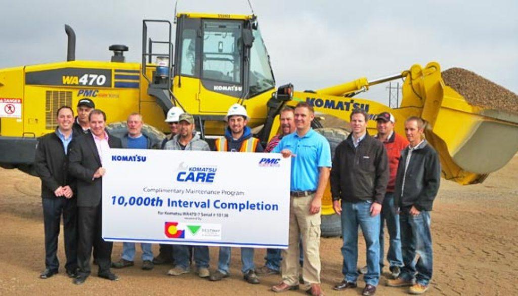 Komatsu America's Complimentary Maintenance Program Komatsu CARE Celebrates Milestone. Copyright Komatsu